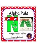Letter N Alphabet Craft: Ninja Neal Alpha Pal