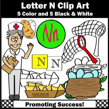Alphabet Letter N Clipart, Beginning Sounds Clip Art SPS
