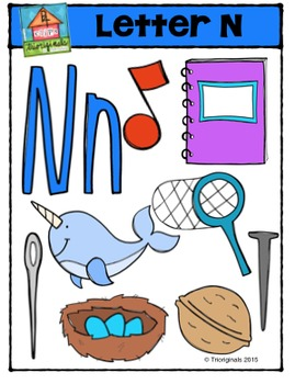 Letter N Alphabet Pictures {P4 Clips Trioriginals Digital