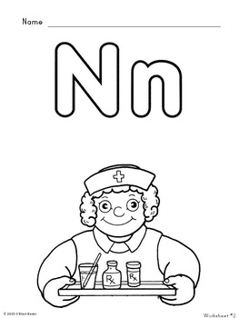 Letter N Unit - Differentiated Letter Writing Pages & Activities