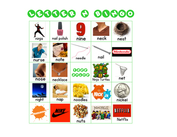 Letter N Bingo