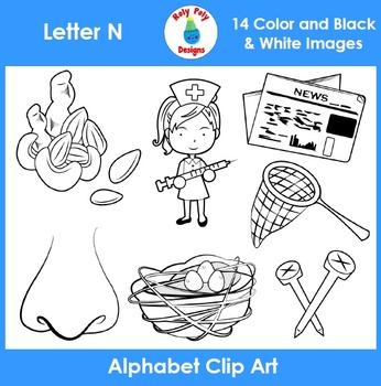 Letter N Clip Art Set