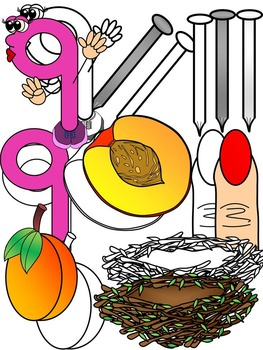 Letter N- Clipart Graphics- Commercial & Personal Use