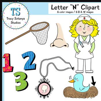"Letter ""N"" Clipart Set {Tracy Sztanya Studios}"