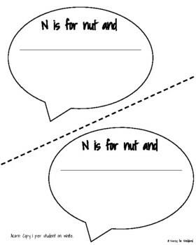 Letter N Craft: I'm a Nut