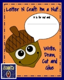Letter N Craft Activity with Nut and Writing Prompt for Literacy Centers