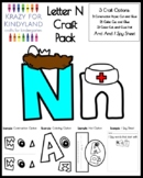 Letter N Craft Pack for Kindergarten (Back to School)