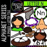 Letter N {Creative Clips Digital Clipart}