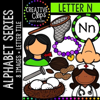 Letter N {Creative Clips Digital Clipart}