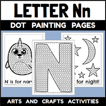 Letter N Dot Painting Activities