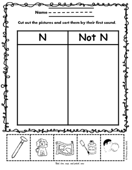 Letter N: Early Phonics Pack