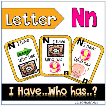 """Letter N  """"I have... Who has?"""""""