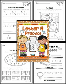Letter N Practice Printables