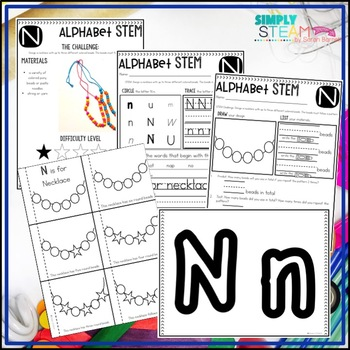 Letter N STEM Challenge   Letter N Activities