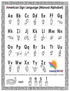 Letter 'N' Sign Language Concept Cards