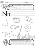 Letter N Sound Worksheet with Instructions Translated into