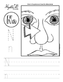 Letter N Trace and Write Worksheet Pack