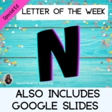 Letter of the Week Letter N Unit for Special Education