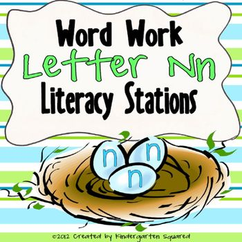 Letter N Word Work Literacy Stations and Centers