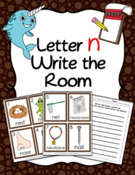 Letter N Words Write the Room Activity