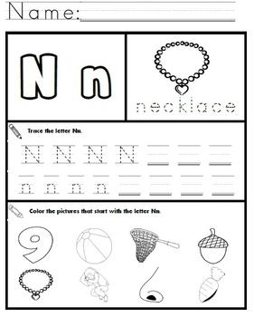 Letter N Worksheets!