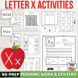 Letter X Worksheets, Letter X Activities, Letter X Centers, Letter of the Week X