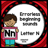 Letter N adapted book errorless learning