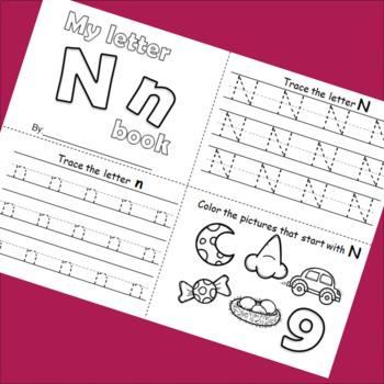 Letter N booklet