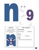 Letter N cutout craft