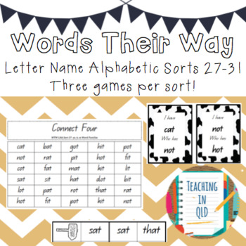 Bundle Sorts 27-31 Games Letter Name Alphabetic