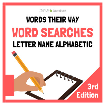 Letter Name Alphabetic Spellers Words Their Way Word Searches - 3rd Edition