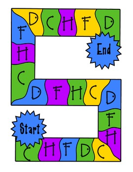 Letter Name C, H, F, D Word Sort #3 Game