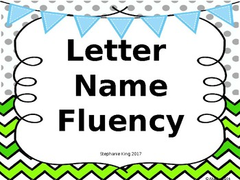 Letter Name Fluency Freebie