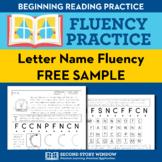 Alphabet Letter Name Fluency Homework Sampler (FREE)