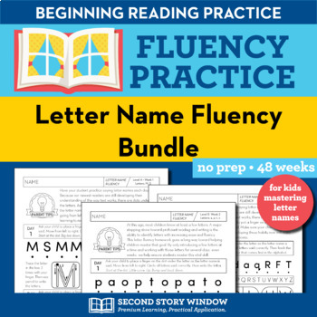 Letter Recognition - Alphabet Letter Name Fluency Homework or Intervention