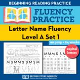 Letter Name Fluency Practice Level A Set 1 - Pre-Reading L