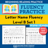 Letter Name Fluency Practice Level B Set 1 - Pre-Reading L
