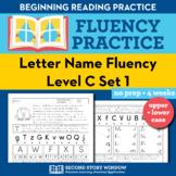 Letter Name Fluency Practice Level C Set 1