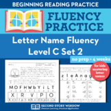 Letter Name Fluency Practice Level C Set 2