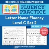 Letter Name Fluency Practice Level C Set 2 - Pre-Reading L