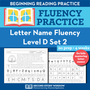 Letter Name Fluency Practice Level D Set 2