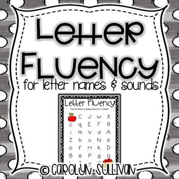Letter Name Fluency Practice Pack
