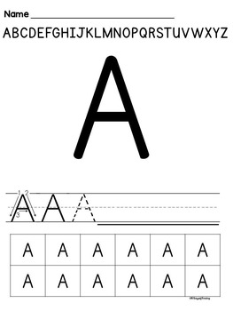 Letter Naming Fluency Interventions Alphabet Worksheets and Lessons