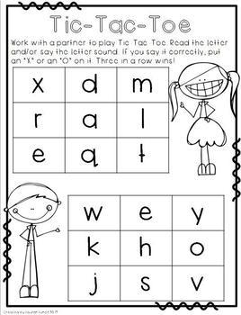 Letter Name & Letter Sound Games