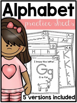 Letter Name Practice Sheets {5 versions}