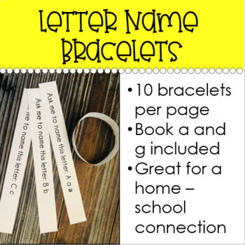 Letter Name Recognition Bracelets