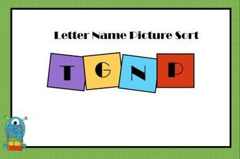 Letter Name Sort 2 Smartboard Lesson and Printable Activities