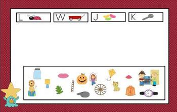 Letter Name Sort 4 Smartboard Lesson and Printable Activities