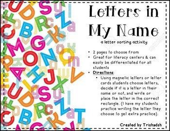 Letter Name Sorting