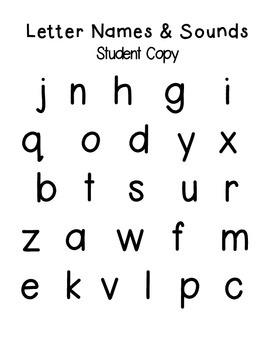 Letter Name & Sound + CVC Decoding Assessment